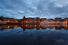 Night cityscape of Gdansk Stock Images
