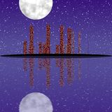 Night cityscape generated texture Stock Photos
