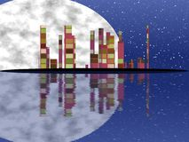 Night cityscape generated texture Stock Photography