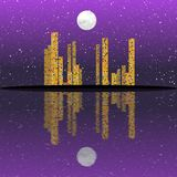 Night cityscape generated texture Stock Images