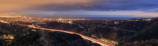 Night cityscape at Getty View Park Royalty Free Stock Photos