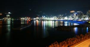 The night cityscape of Izu Royalty Free Stock Photo