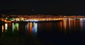 Kavala City by Night. stock photography