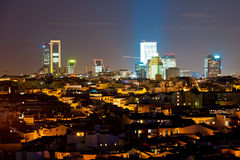 Night cityscape of Madrid Stock Photo