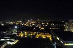 Night cityscape of Malacca - view north Stock Image