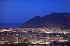 Night cityscape of Palermo, Italy Royalty Free Stock Images