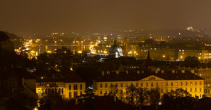 Night Cityscape of Prague Stock Photography