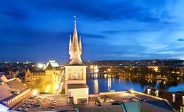 Night Cityscape - Prague. Night cityscape in Prague, Czech Republic Royalty Free Stock Image