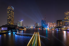 Night cityscape river Royalty Free Stock Image
