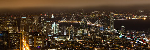 Night cityscape in san francisco Stock Images