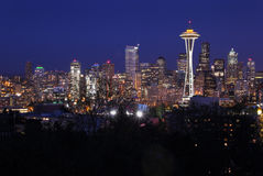 Night Cityscape, Seattle, Washington, USA Stock Photography