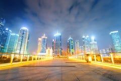 Night cityscape of shanghai Royalty Free Stock Photo