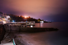 Night cityscape, town Alupka. Crimea stock photography