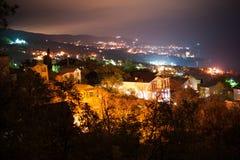 Night cityscape, town Gaspra Royalty Free Stock Photo