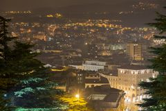 Night cityscape of Trieste Royalty Free Stock Photography