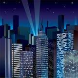 Night Cityscape Vector illustration clip-art image Royalty Free Stock Image