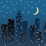 Night cityscape. Vector illustration Royalty Free Stock Photos
