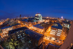 Night cityscape view of Voronezh Stock Images