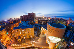 Night cityscape view of Voronezh Royalty Free Stock Photography