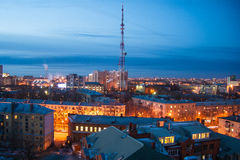 Night cityscape view of Voronezh Stock Image