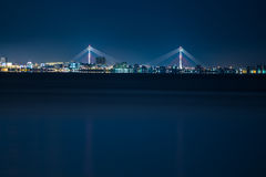 Night cityscape. Wuth a bridge Stock Photos