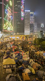 Night before clearance at Umbrella Revolution - Admiralty, Hong Kong Royalty Free Stock Images