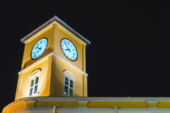 Night Clock Tower Stock Photo