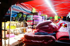 Night clothing sales stall Royalty Free Stock Image