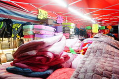 Night clothing sales stall Stock Photos