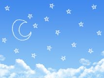 Night on Cloud shaped Royalty Free Stock Photography