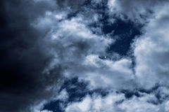 Night clouds Stock Image
