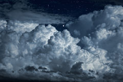 Night clouds Stock Images