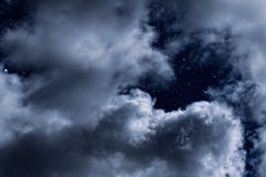 Night clouds Royalty Free Stock Image