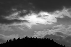 Night clouds in the mountains Royalty Free Stock Photography