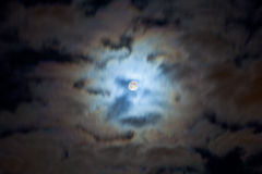 Night cloudscape with full moon Stock Photography