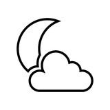 Night cloudy weather isolated icon. Vector illustration design Stock Photos