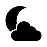 Night cloudy weather isolated icon. Vector illustration design Royalty Free Stock Photography
