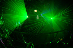 Night club 2. Russian night clud with green light system Royalty Free Stock Photography