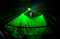 Night club. Russian night clud with green light system Royalty Free Stock Images