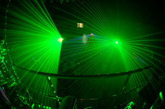 Night club 4. Russian night clud with green light system Stock Image