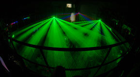 Night club 5. Russian night clud with green light system Royalty Free Stock Photo