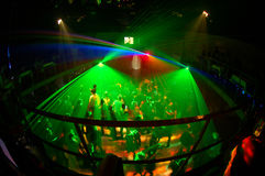 Night club 7. Russian night clud with green light system Royalty Free Stock Photo