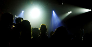 Night club. Young people dance in the night club Stock Photography