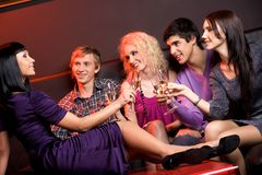 In the night club Stock Photography