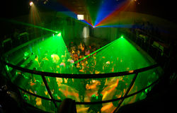 Night club 8. Russian night clud with green light system Royalty Free Stock Photography