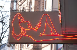 Night club for adults signboard Stock Photos