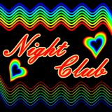 Night club billboard in cheerful contrasting colors Royalty Free Stock Photos