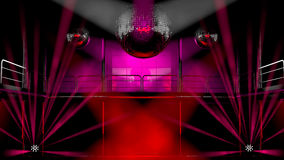 Night club colorful lights and disco balls Royalty Free Stock Photography