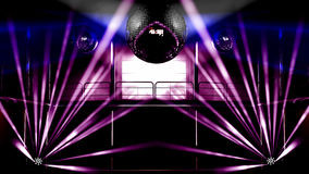 Night club colorful lights and disco balls Royalty Free Stock Photos