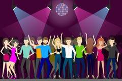 Night club dance. Stock Photo